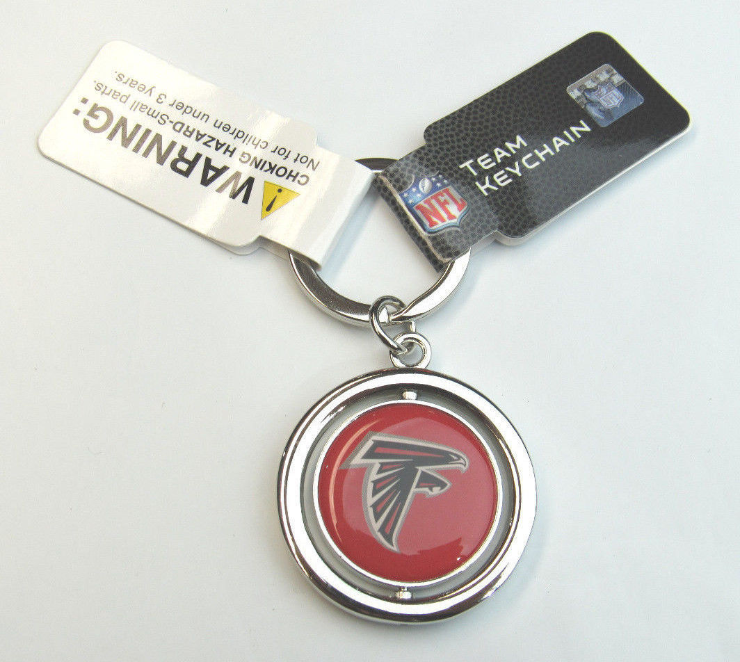 NFL NIB SPINNING LOGO KEY CHAIN FOREVER COLLECTIBLES - ATLANTA FALCONS