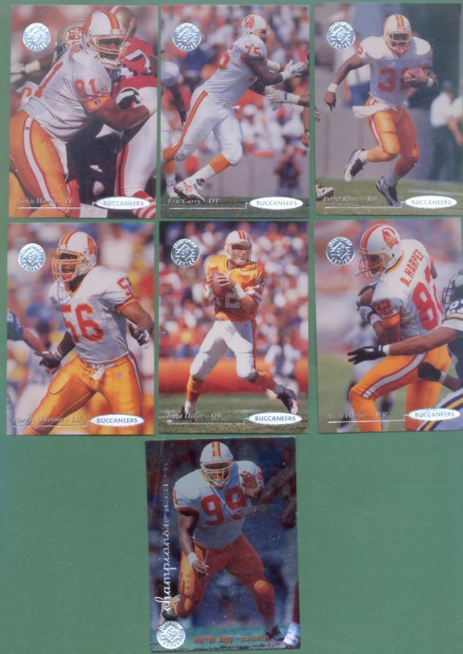 1995 UD SP Championship Tampa Bay Buccaneers Football Set