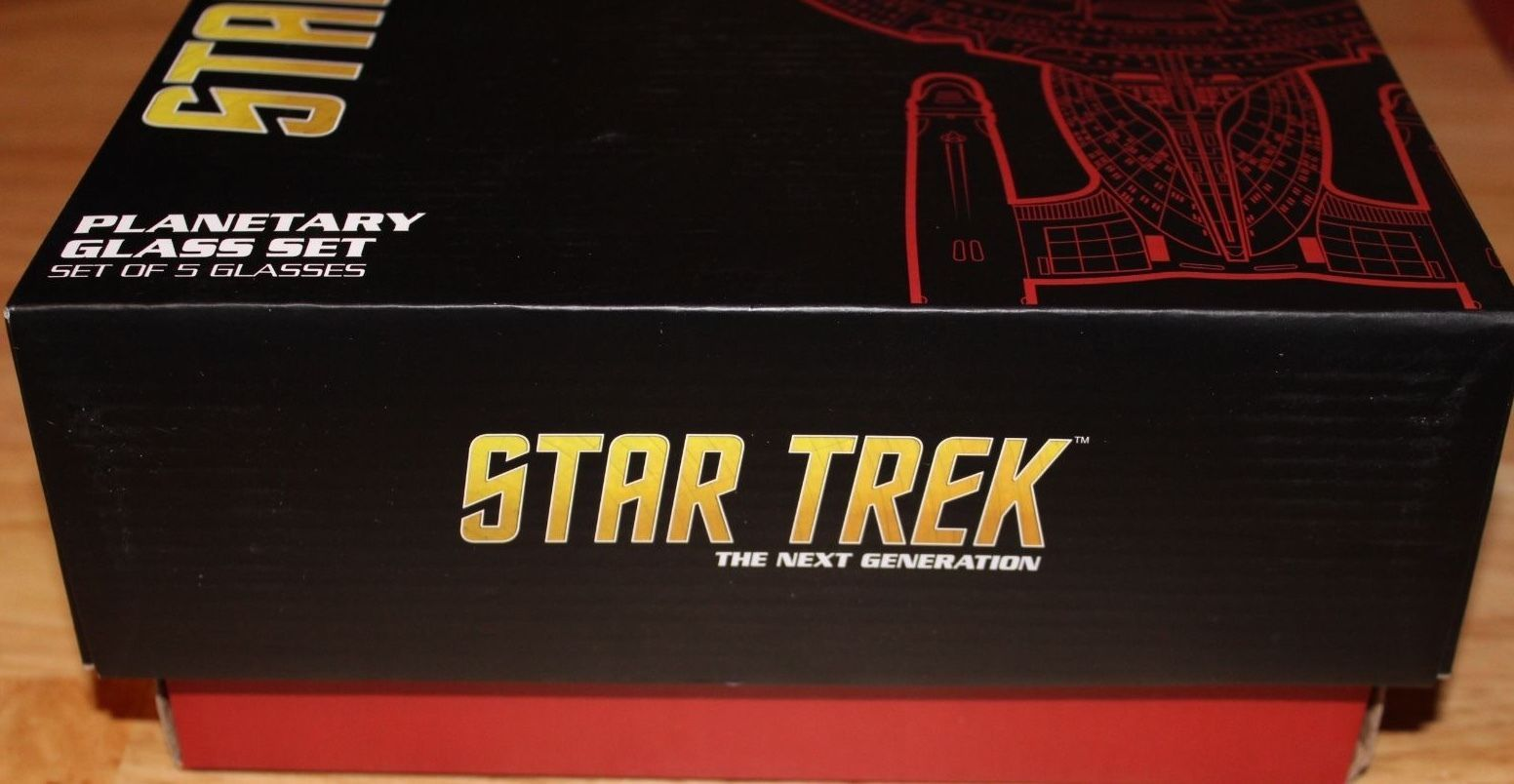 Star Trek Planetary 5 Planet Glass Set Borg Shot Earth Vulcan Romulus Qo'nos New