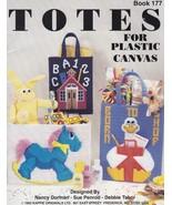 Totes, Kappie Plastic Canvas Pattern Book 177 Village Shop  Rocking Hors... - $5.95