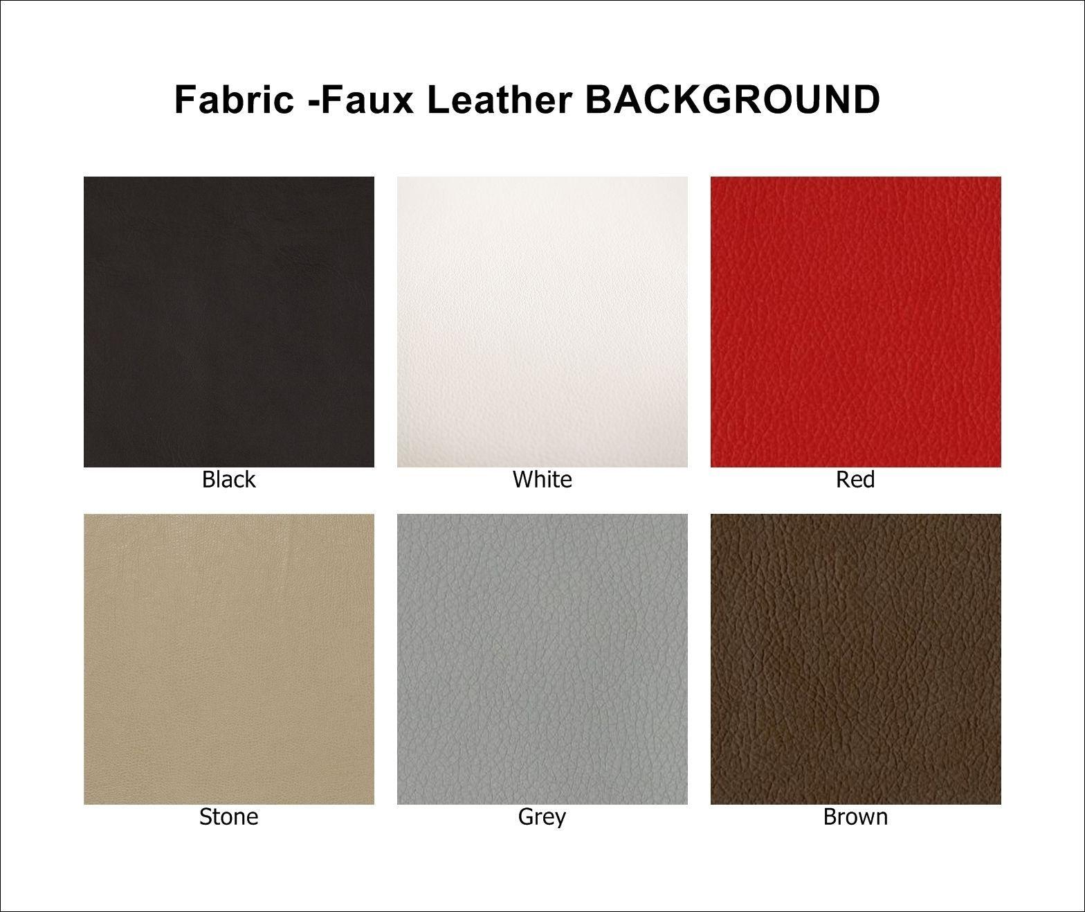 "Custom Faux Leather Bottom Rocker Biker MC Club Vest Sew on Patch 13"" (B)"