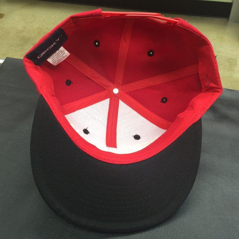 Custom  Disobey  Black/Red/Red  Adjustable Snapback  Cap Hat 12258