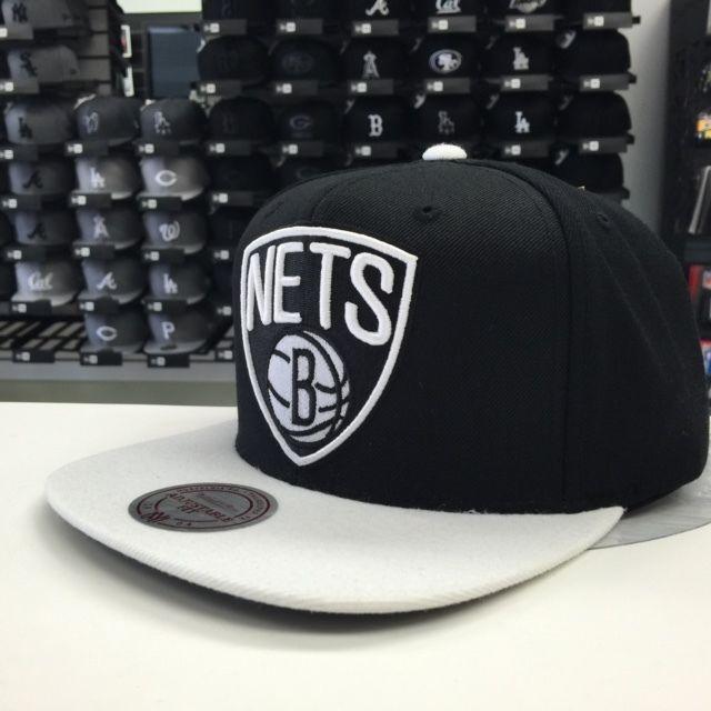 Mitchell & Ness NBA Brooklyn Nets Black Tone Arch Snapback OSFA #12759