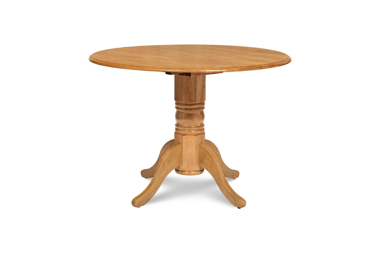 """42"""" BURLINGTON DINETTE DINING TABLE SET WITH 9"""" DROP LEAF in OAK FINISH"""