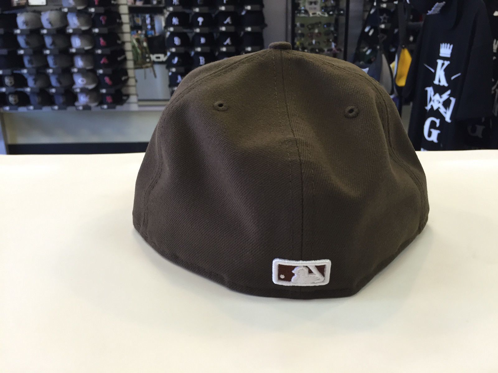 New Era 59Fifty MLB Basic Chicago White Sox Walnut 5950 Baseball Fitted Cap Hat