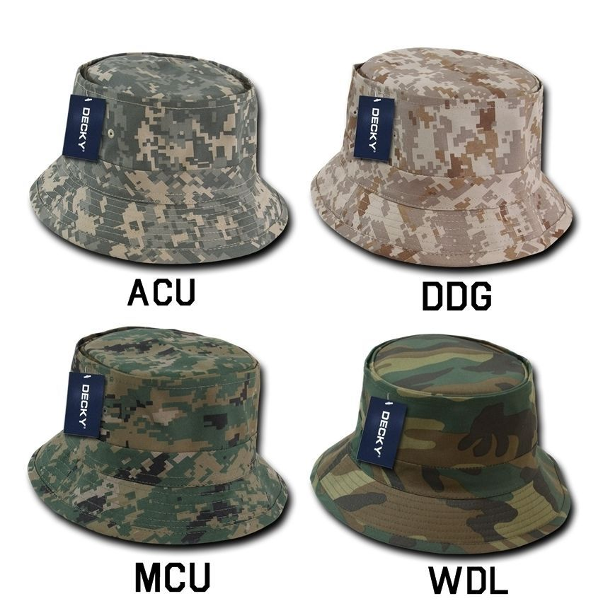 CUSTOM EMBROIDERY Personalized Customized Decky Camo Fishermen's Hat