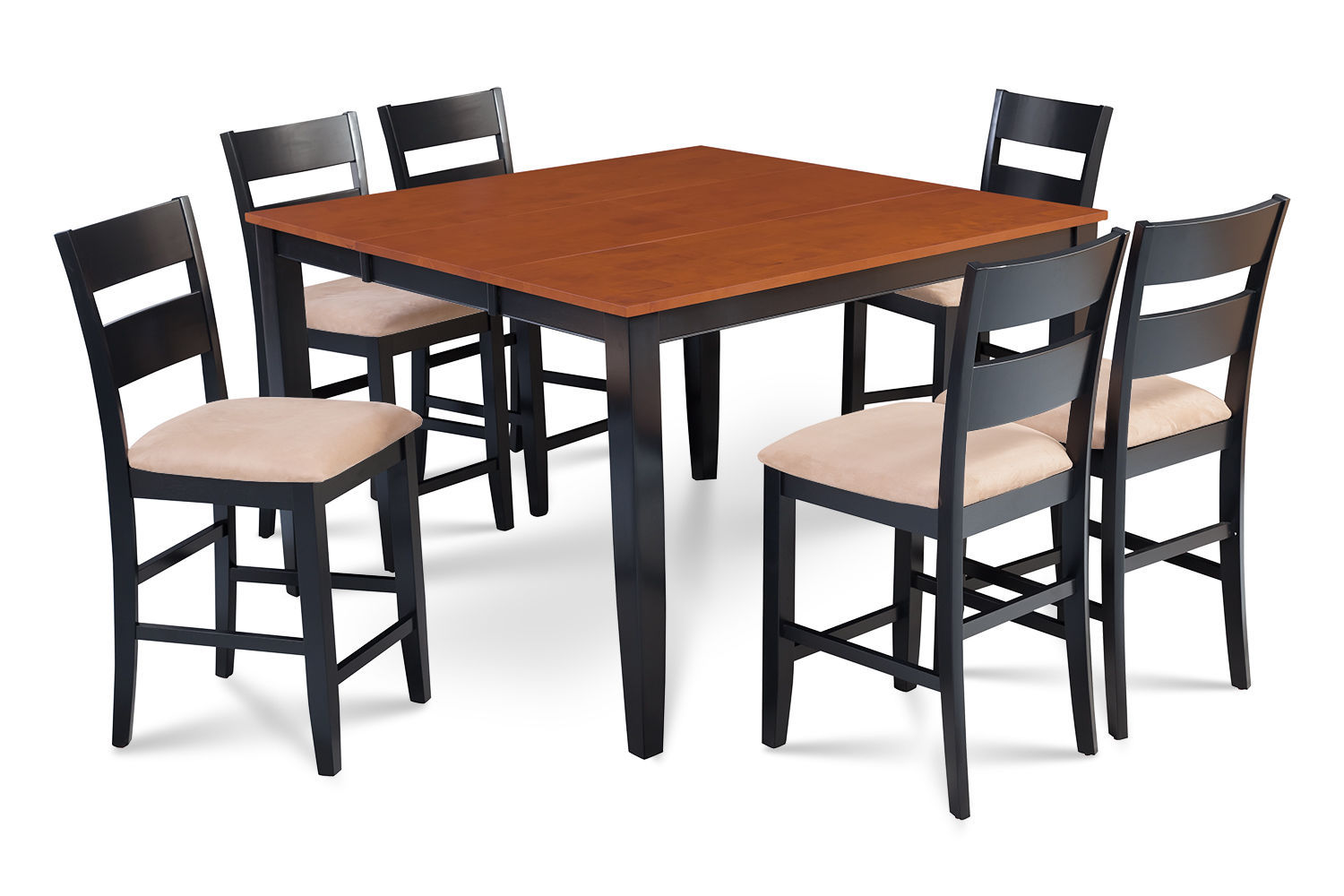 """54"""" SQUARE COUNTER HEIGHT TABLE DINING ROOM SET W/. 18"""" BUTTERFLY LEAF"""