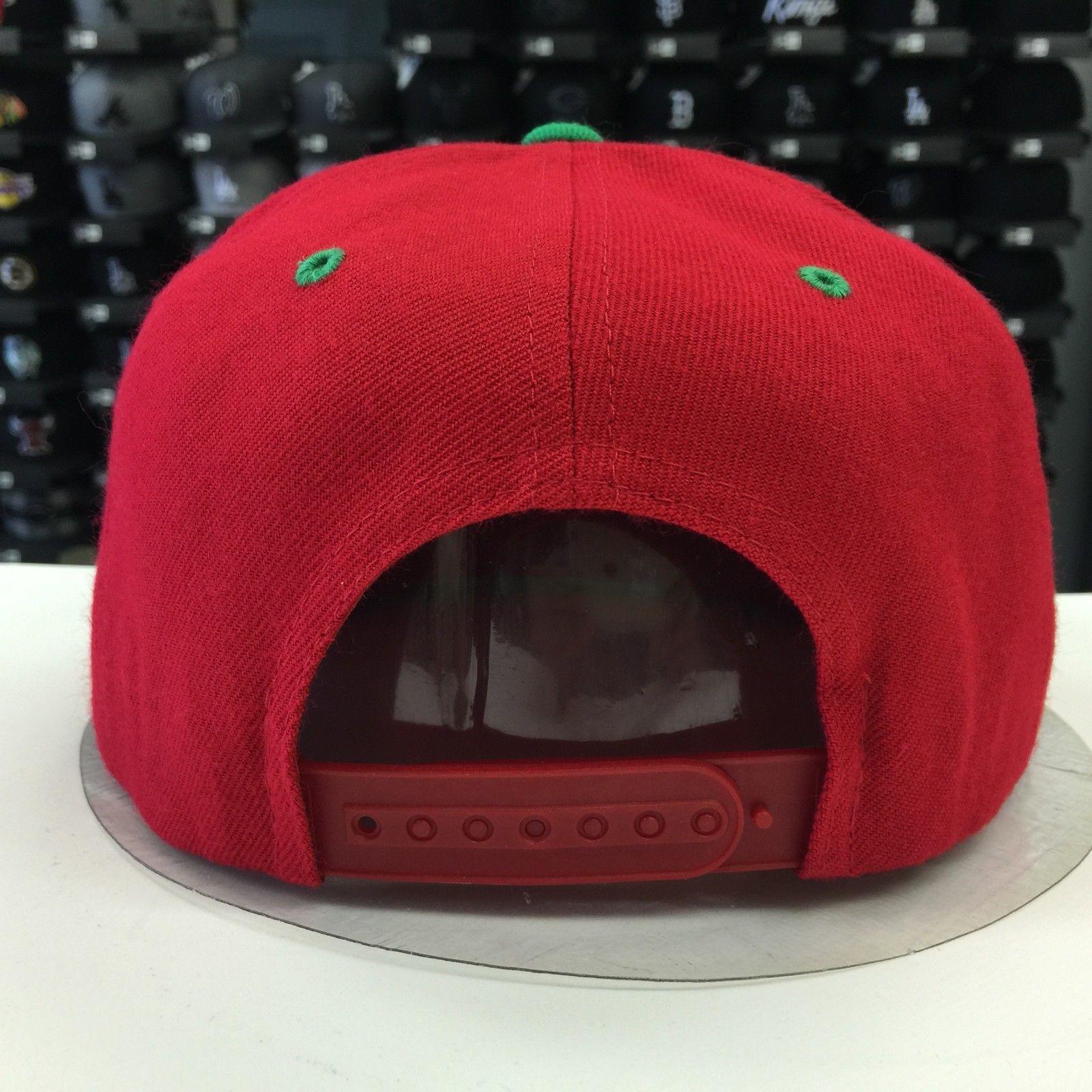 Custom Mexico M Kelly Red Adjustable Snapback OSFA