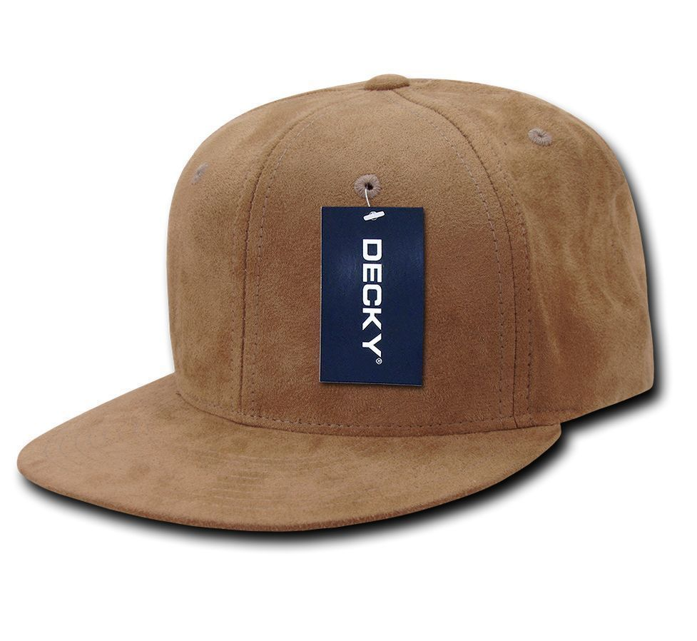 DECKY 6-Panel High Crown Softly Cotton Faux Suede Snapback Cap Hat 1091