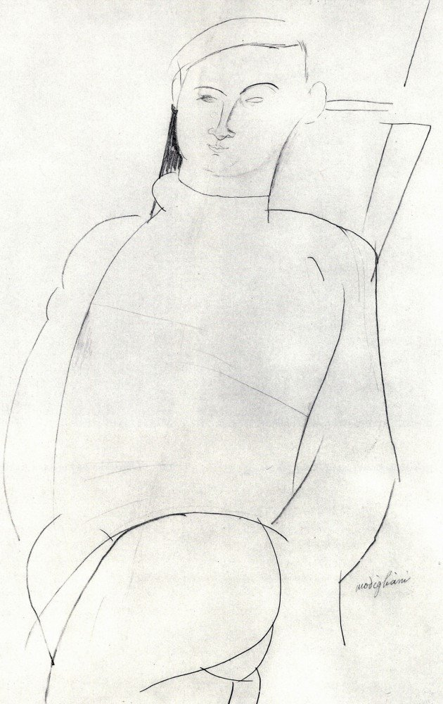 100% Hand Painted Oil on Canvas - Modigliani - Jacques Lipchitz - 30x40 Inch