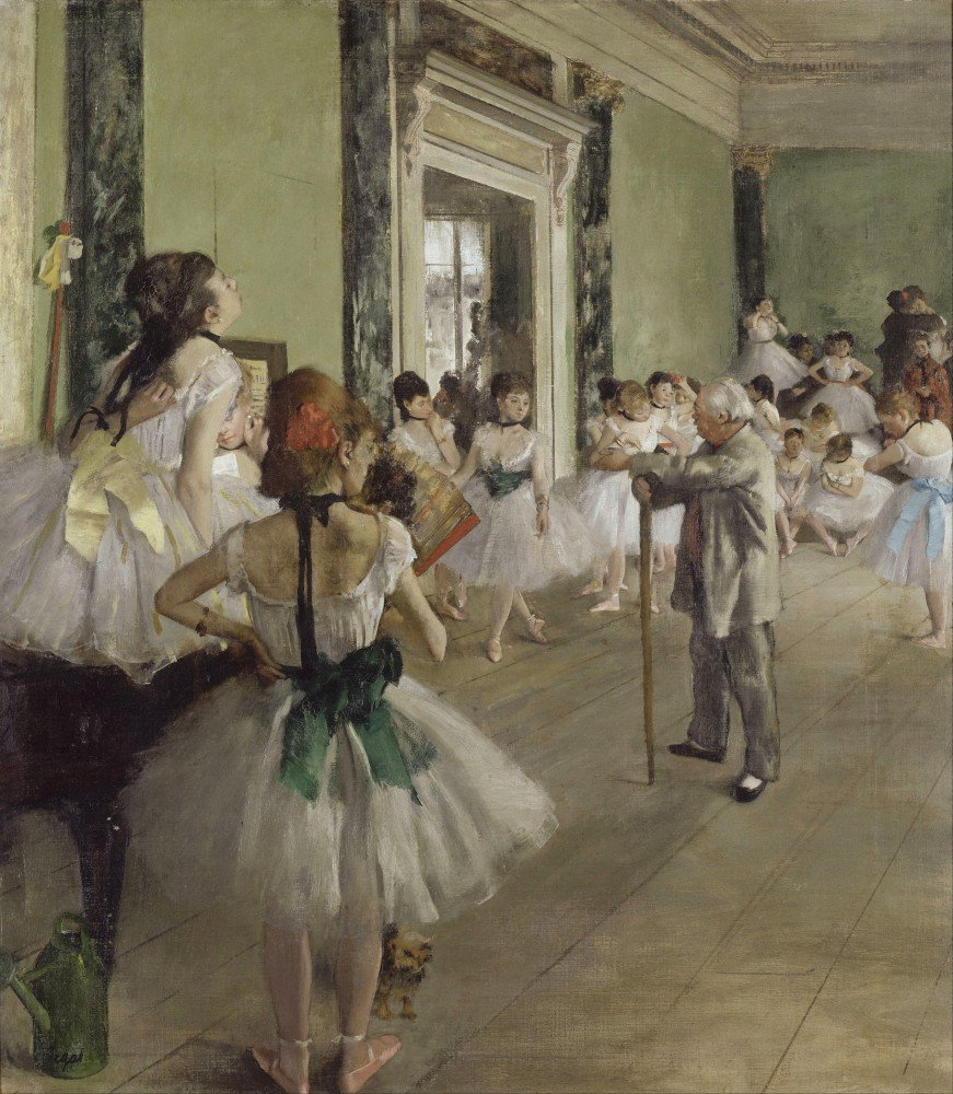 100% Hand Painted Oil on Canvas - Degas - The Ballet Class - 20x24 Inch