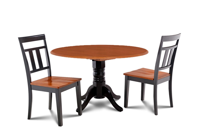"42"" BURLINGTON DINETTE DINING TABLE SET WITH 9"" DROP LEAF IN BLACK CHERRY"