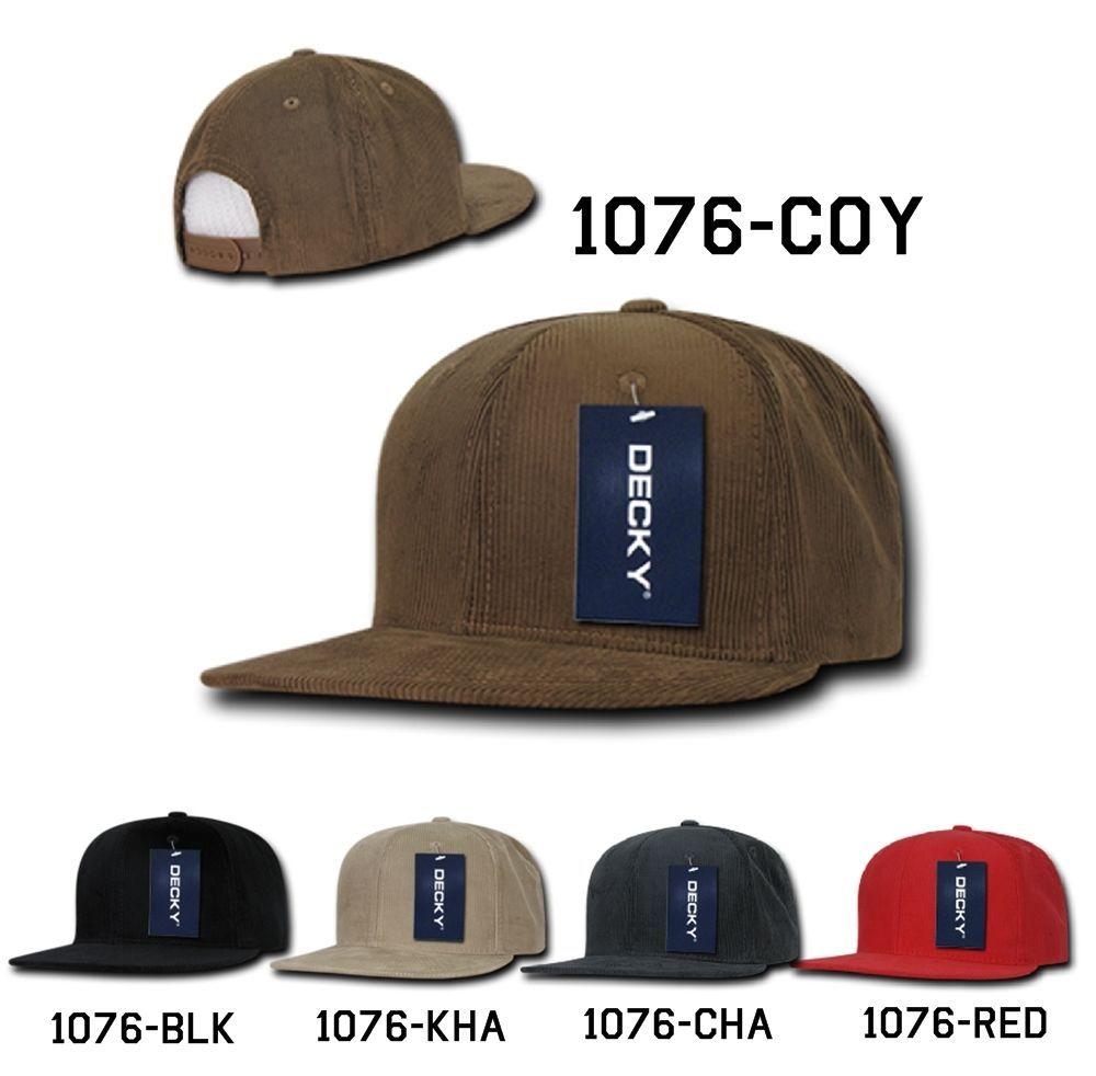 CUSTOM EMBROIDERY Personalized Customized Decky Corduroy Snapback Cap Hat 1076