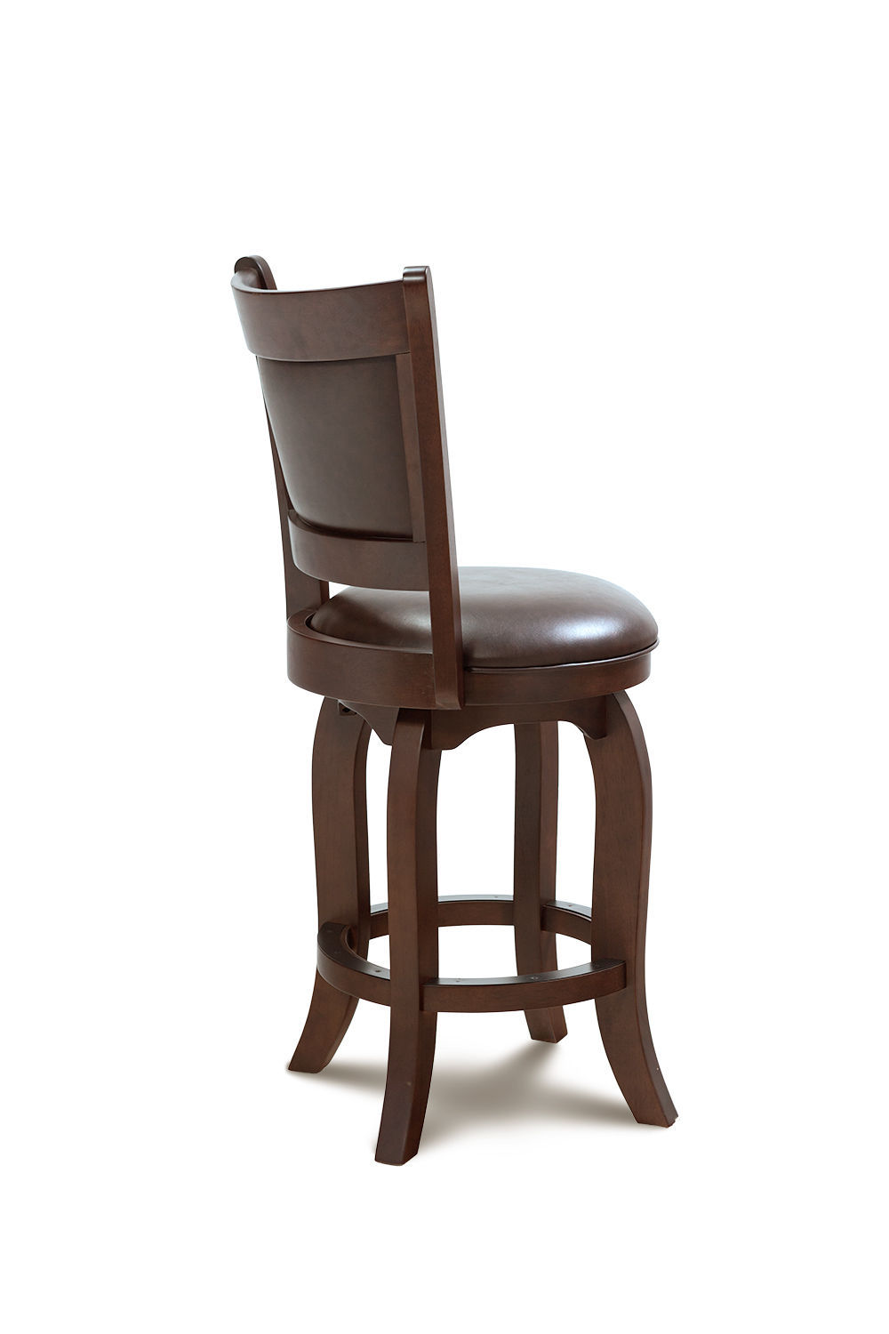 "27"" BRIGHTON COUNTER-HEIGHT SWIVEL BARSTOOL CHAIR IN WARM CHERRY"