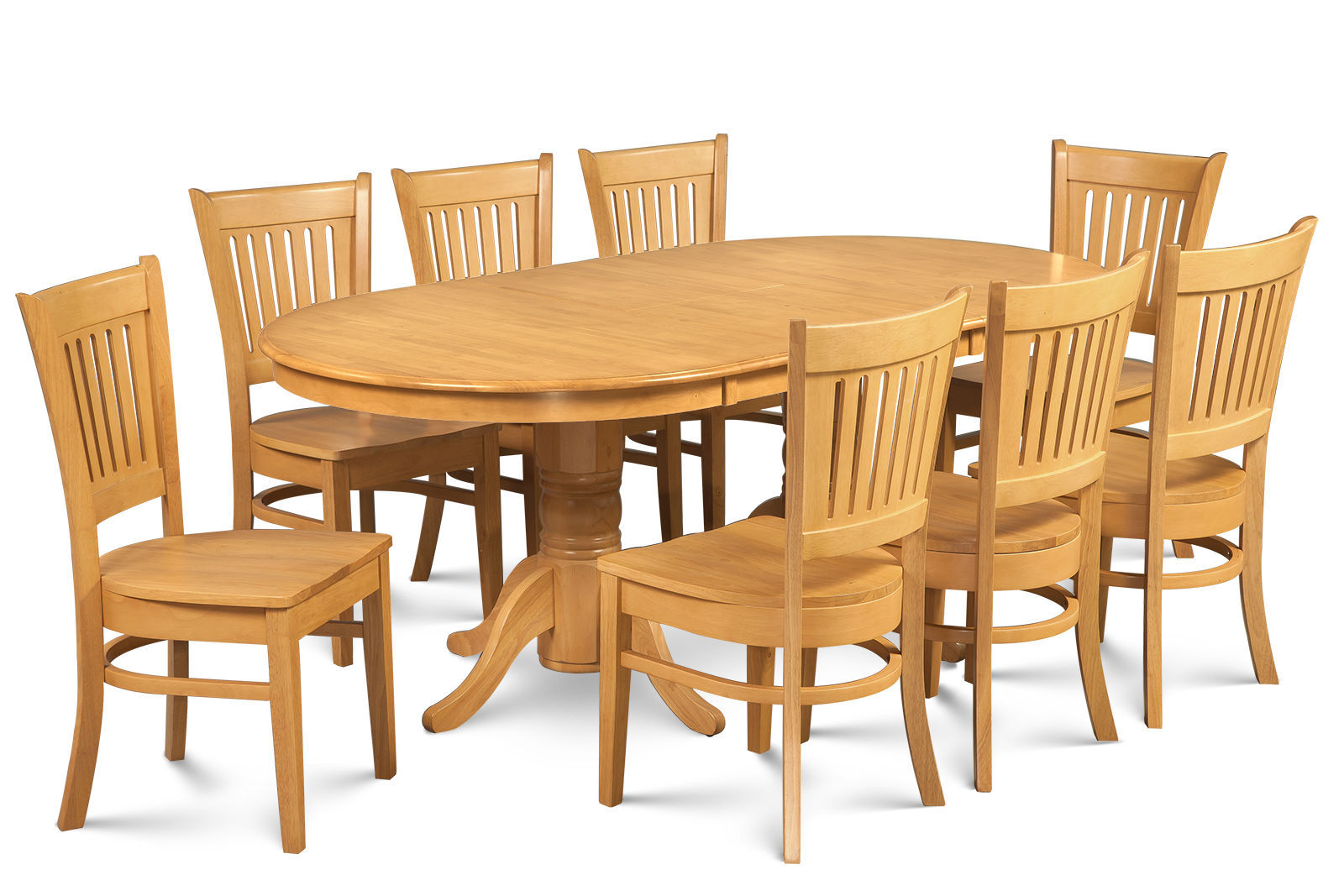 """SOMERVILLE DINETTE DINING ROOM TABLE SET 42""""X78"""" W. WOODEN SEATS IN OAK FINISH"""