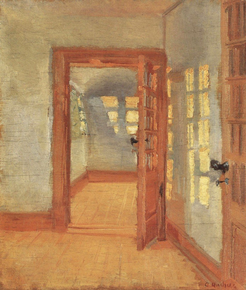 100% Hand Painted Oil on Canvas - House by Anna Ancher - 30x40 Inch