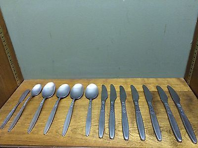 13 Pcs. Amefa Holland Stainless Holland Tulip Time Pattern