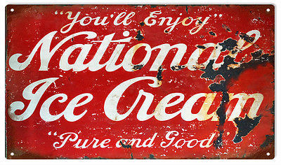National Ice Cream Advertisement Sign