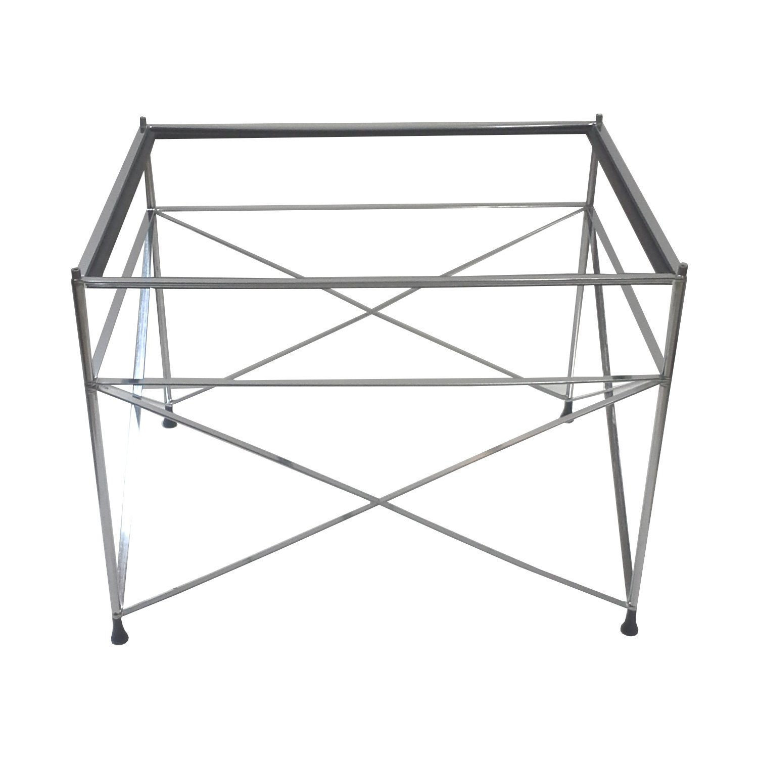 Mid-Century Chrome Scaffold End Table Base-Pace Collection