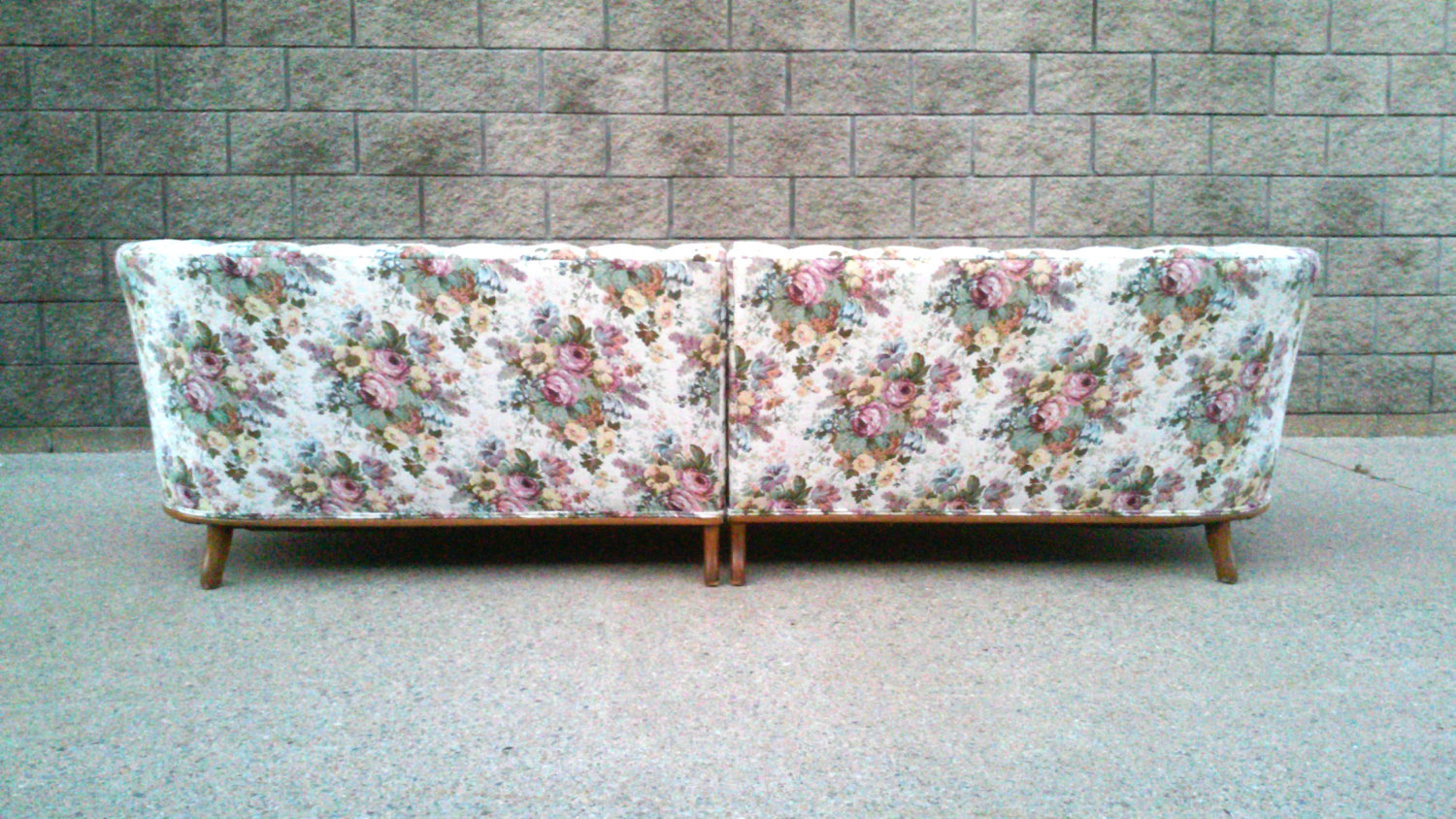 Vintage French Tufted Sofa Sectional Couch