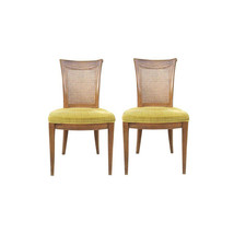 Mid-Century Hollywood Regency Cane Side Chairs-A Pair - $650.00