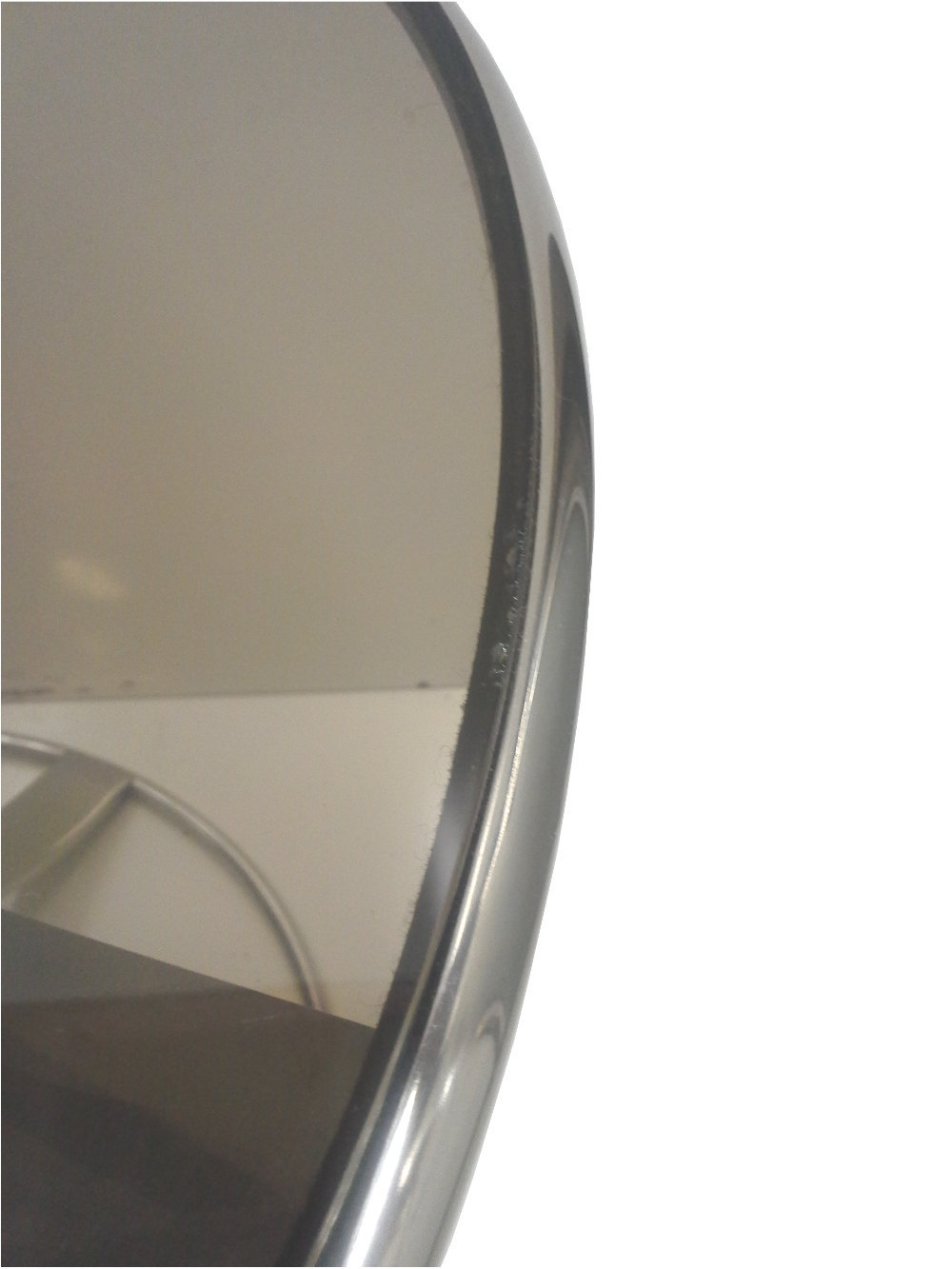 Mid-Century Steelcase End Table in Chromed Steel