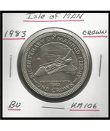 """1983, Isle of Man: Commemorative Crown,""""Bicentenary of Manned-Flight"""" Coin - $4.04"""