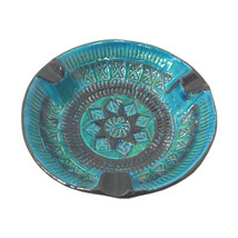 Mid-Century Italian Bitossi  Rimini Blue Ceramic Ashtray - $95.00