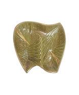 Mid Century Olive Green Ceramic Boomerang Ashtray - $125.00