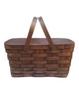 Vintage Oak Handled Picnic Basket  - $129.00