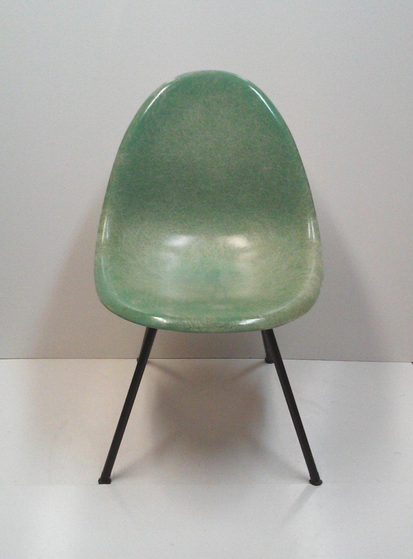 Early Herman Miller for Zenith Style Green Fiberglass Shell Scoop Chair