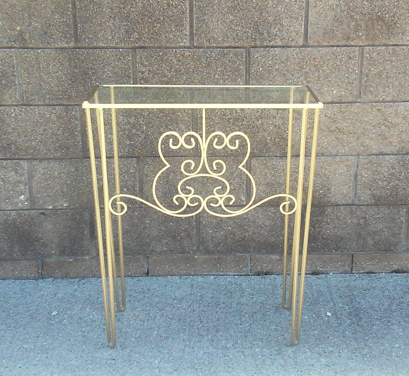 Vintage Woodard Iron Console Vanity Table