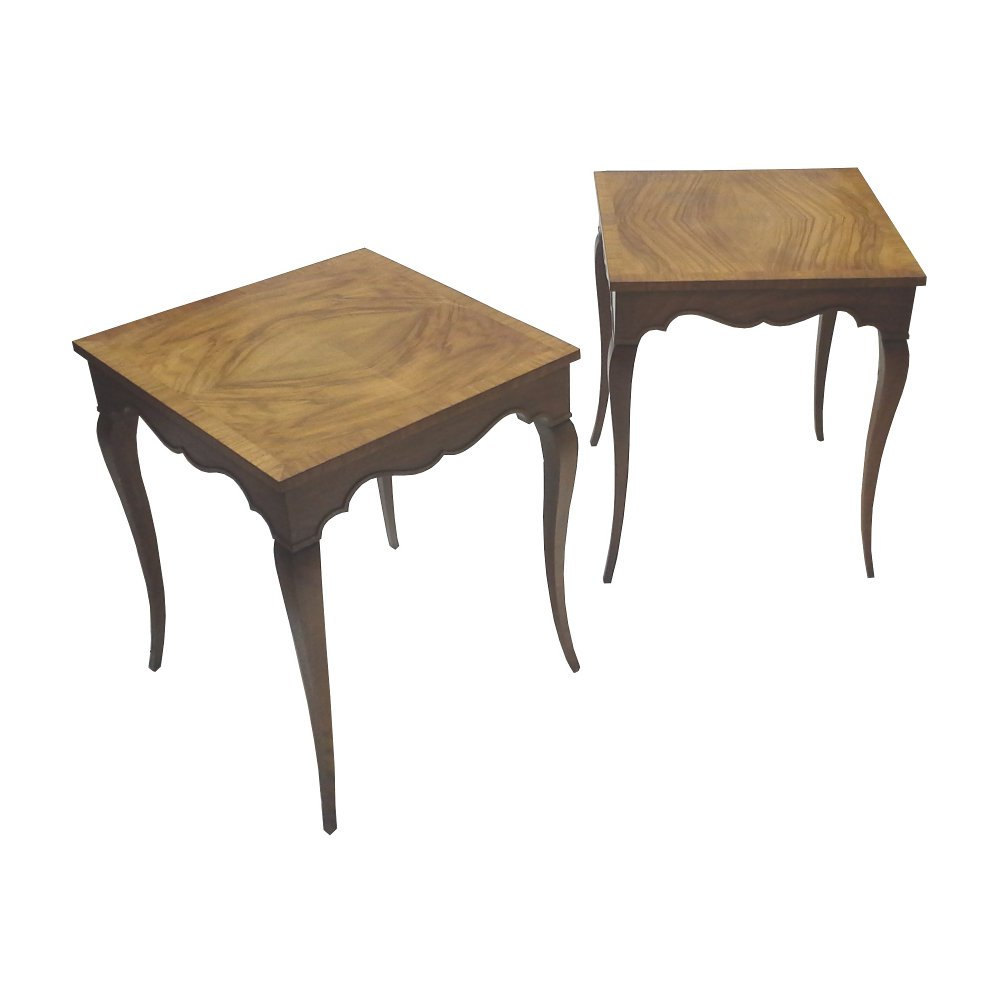 Petite Baker Furniture Side Tables or End Tables-Pair