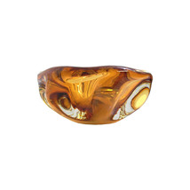 Mid-Century Gold Murano Candy  Bowl - $85.00