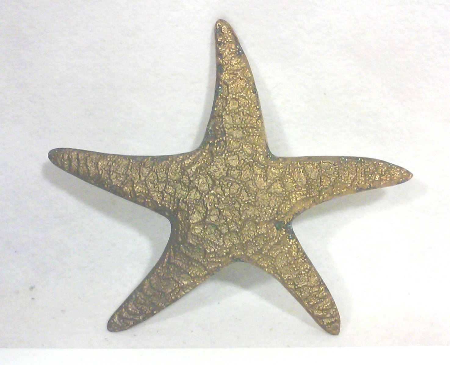 Vintage Brass Sea Shell, Conch Shell and Starfish Wall Hangings-Set of Three