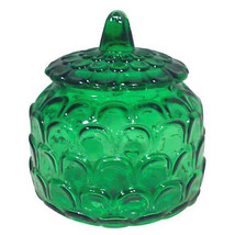 Vintage Italian Emerald Green Glass Lidded Jar - $115.00