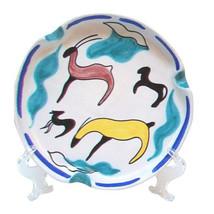 Mid-Century Modern Italian Art Pottery Large Ceramic Ashtray Dish with G... - $795.00