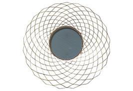 Vintage Gilded Sunburst Honeycomb Round Wall Mirror - $279.00