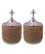 Vintage Mid-Century Laurel Cork and Chrome Lamps-A Pair - $2,469.00