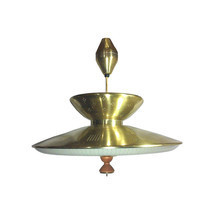 Vintage Mid-Century Modern Gerald Thurston Style Brass Flying Saucer Ret... - £741.26 GBP