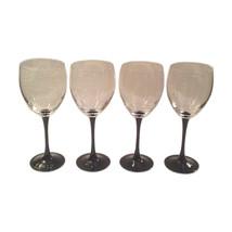 Vintage Minimalist Black Stem Wine Glasses, Set of Four - $229.00