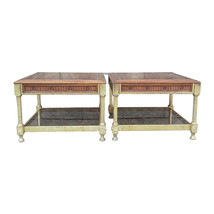 Vintage Jansen-Style Regency Two Tier End Tables-Pair - $749.00