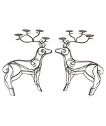 Vintage Large Iron Reineer Candle Centerpieces-A Pair - $225.00