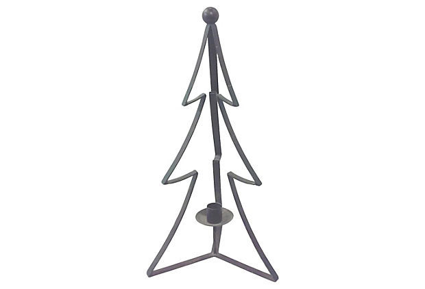 Metal Pine Tree Candle Holder Centerpieces-Set of Three