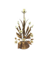 Vintage Florentine Gilded Tole Flora Tall Table Lamp - $1,100.00