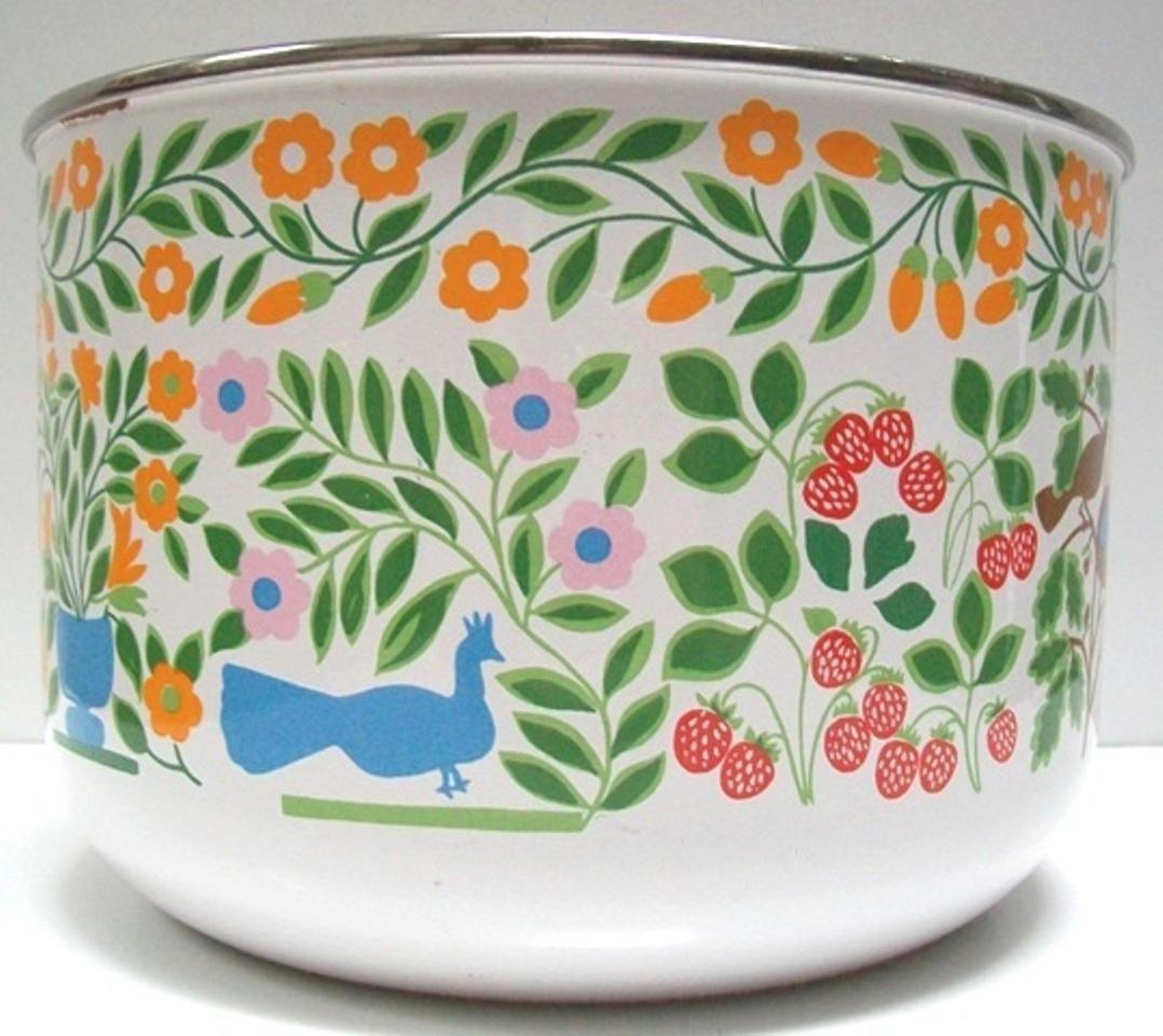 Vintage Mid-Century Enamel Bowl