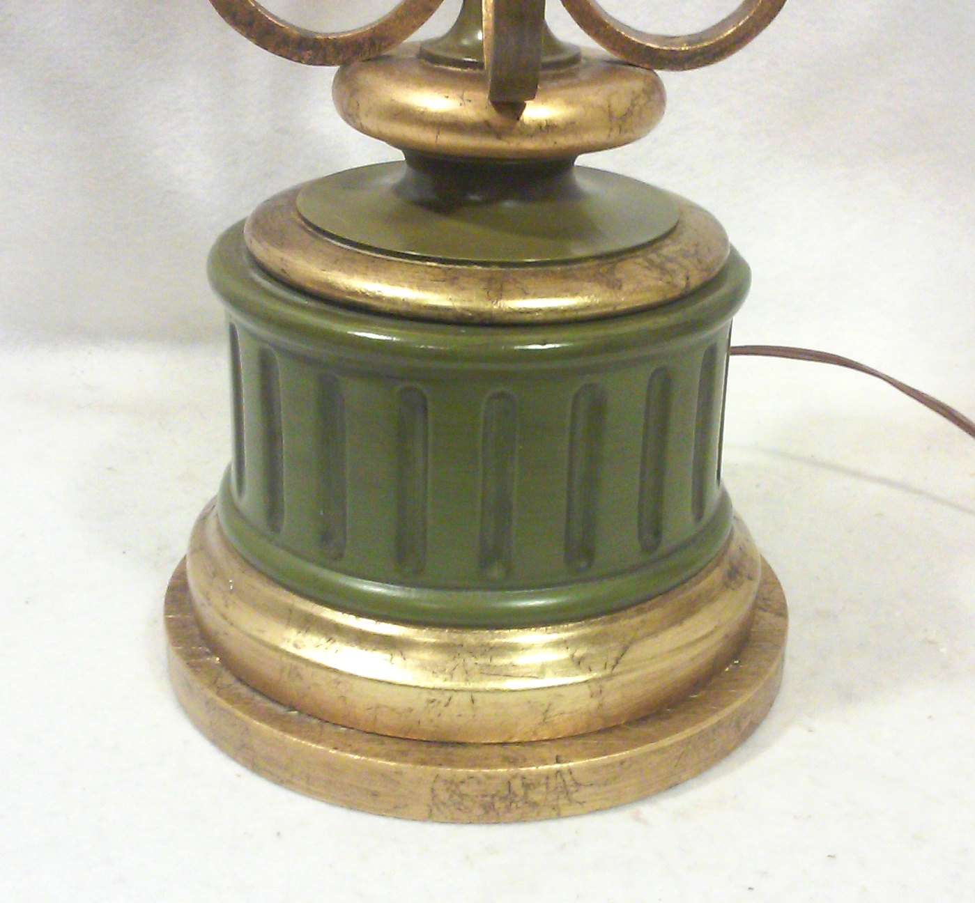 Vintage Florentine Gilt Iron Regency Tall Table Lamp