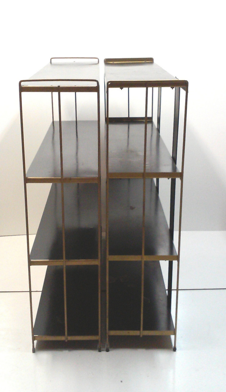 Mid-Century Industrial Steel Bookshelves-A Pair