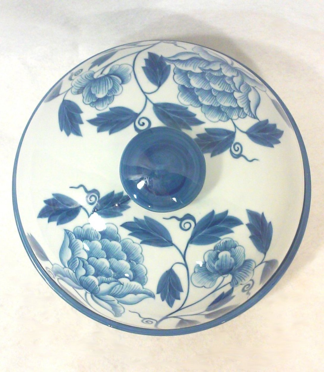 Maitland Smith Blue and White Chinoiserie Covered Dish