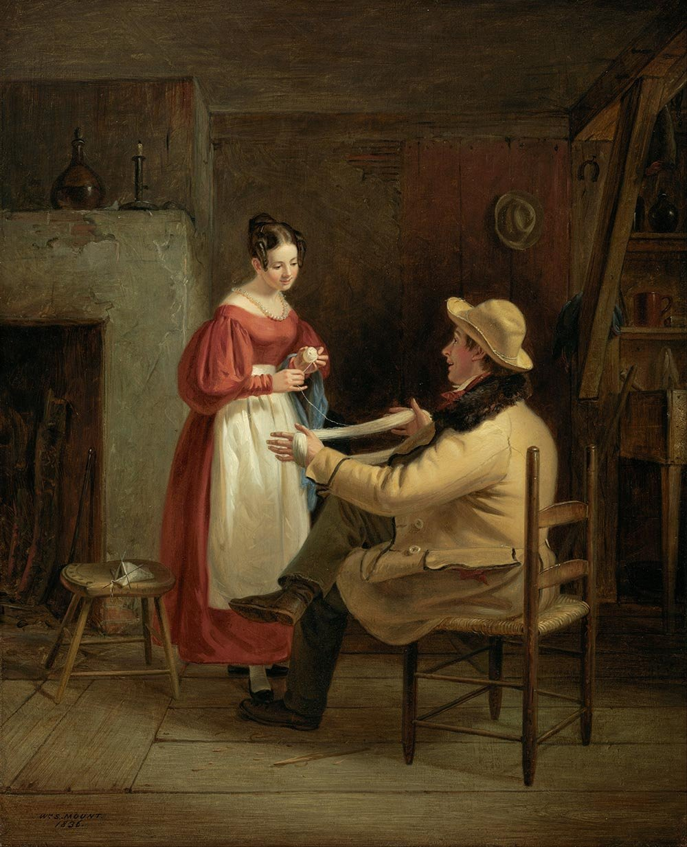 100% Hand Painted Oil on Canvas - William Sidney Mount - Winding Up - 24x36 Inch